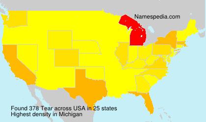 Familiennamen Tear - USA