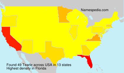 Familiennamen Tearle - USA