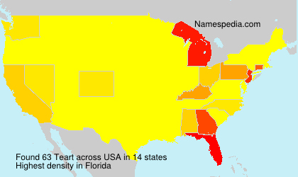 Familiennamen Teart - USA