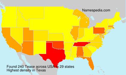 Familiennamen Tease - USA