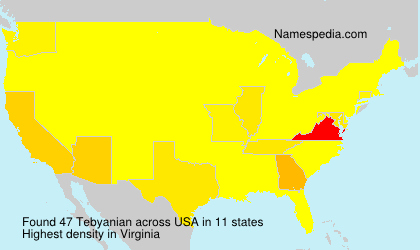 Surname Tebyanian in USA