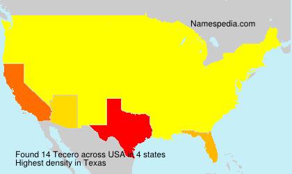 Surname Tecero in USA