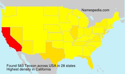 Surname Tecson in USA