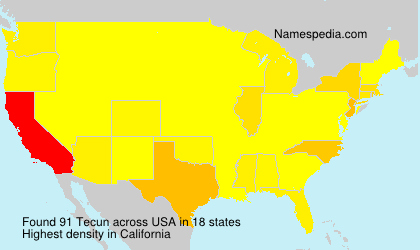 Surname Tecun in USA
