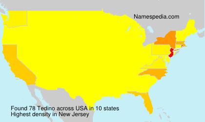 Surname Tedino in USA