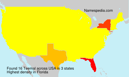 Surname Teemal in USA
