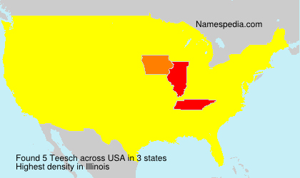 Surname Teesch in USA