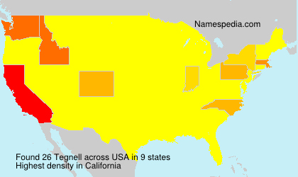 Surname Tegnell in USA