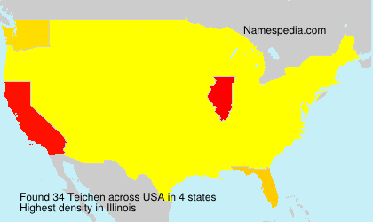 Surname Teichen in USA