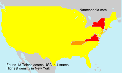 Surname Teichs in USA