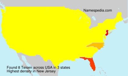 Familiennamen Teisen - USA