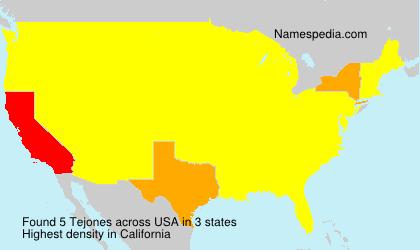 Familiennamen Tejones - USA
