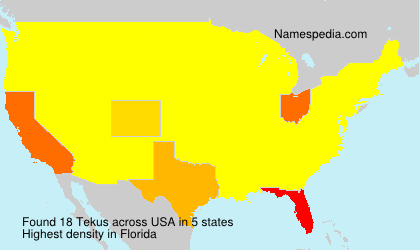 Surname Tekus in USA
