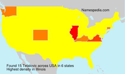 Surname Telalovic in USA