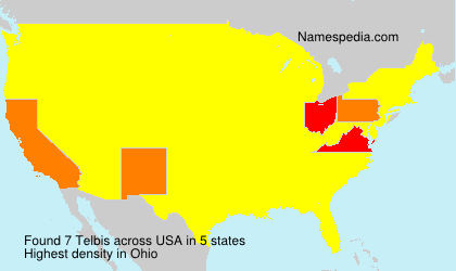 Surname Telbis in USA