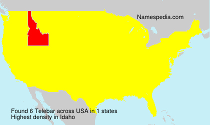 Familiennamen Telebar - USA