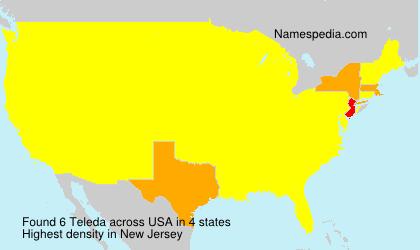 Familiennamen Teleda - USA