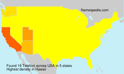 Surname Telefoni in USA
