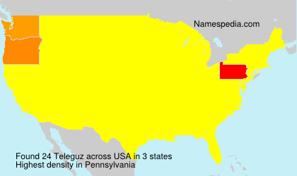Surname Teleguz in USA