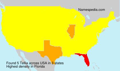 Surname Tellia in USA