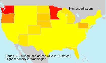 Surname Tellinghusen in USA