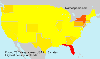 Surname Telsey in USA