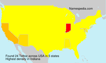 Surname Teltoe in USA
