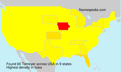 Surname Temeyer in USA