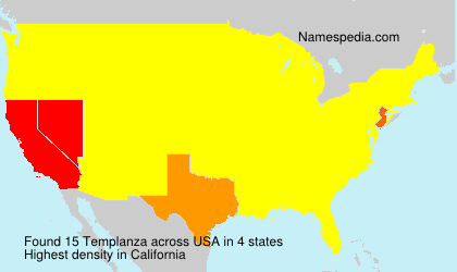 Surname Templanza in USA