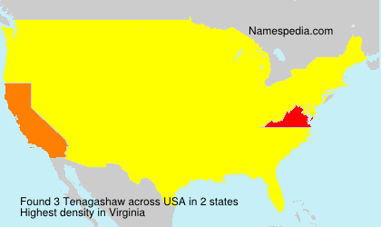 Surname Tenagashaw in USA