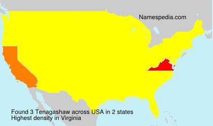 Familiennamen Tenagashaw - USA