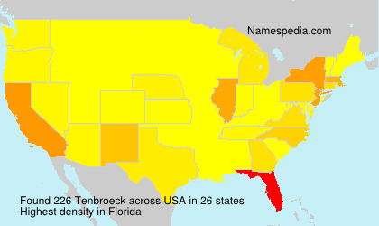 Surname Tenbroeck in USA