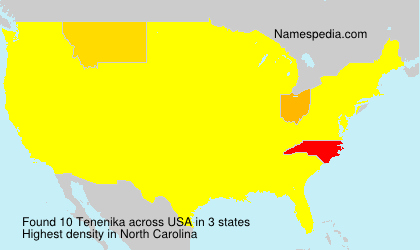 Surname Tenenika in USA