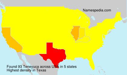 Familiennamen Teneyuca - USA