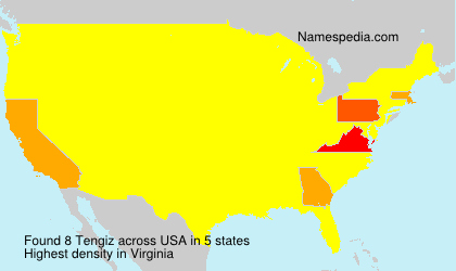 Surname Tengiz in USA