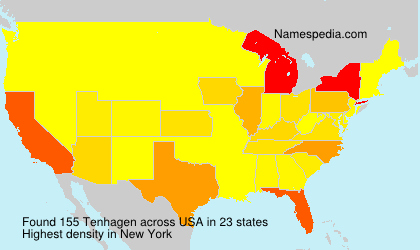 Surname Tenhagen in USA