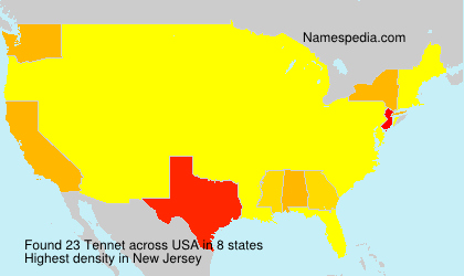 Surname Tennet in USA
