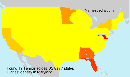 Surname Tennor in USA
