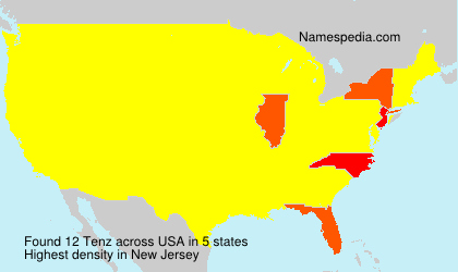 Surname Tenz in USA