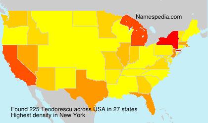 Familiennamen Teodorescu - USA