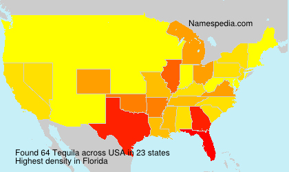Surname Tequila in USA