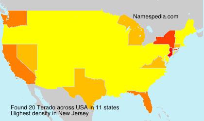 Familiennamen Terado - USA