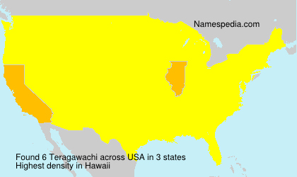 Surname Teragawachi in USA