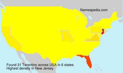 Surname Terantino in USA