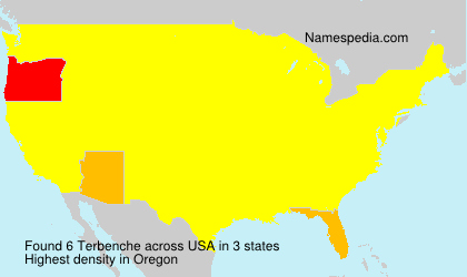 Surname Terbenche in USA