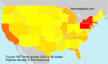 Surname Teres in USA