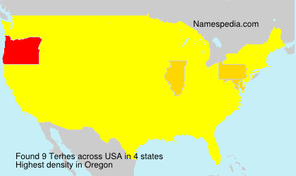 Surname Terhes in USA
