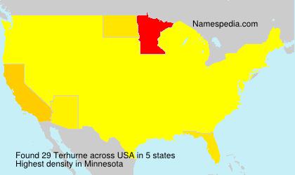 Surname Terhurne in USA