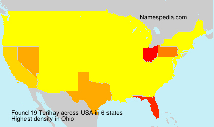 Surname Terihay in USA