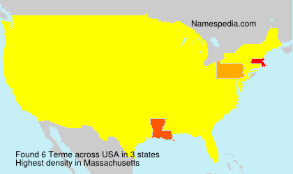 Surname Terme in USA